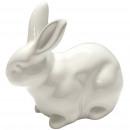 Ceramic rabbit crouching, 21x11,5x17,5cm, glossy w
